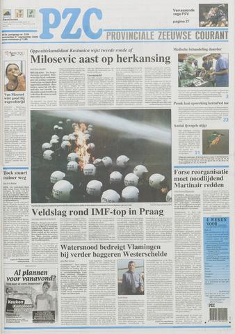 Provinciale Zeeuwse Courant 2000-09-27