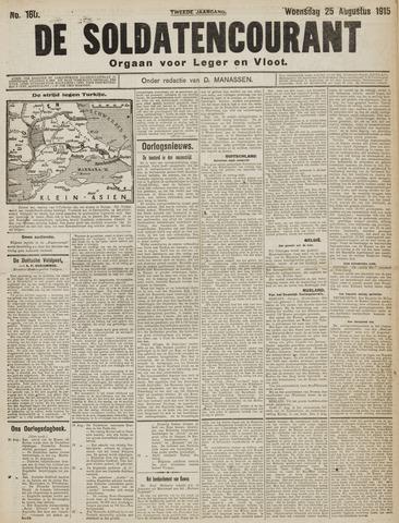 De Soldatencourant. Orgaan voor Leger en Vloot 1915-08-25
