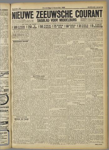 Nieuwe Zeeuwsche Courant 1922-11-09