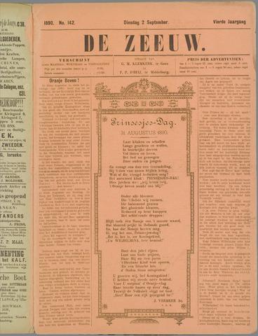 De Zeeuw. Christelijk-historisch nieuwsblad voor Zeeland 1890-09-02