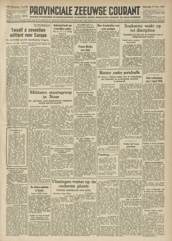 Provinciale Zeeuwse Courant 1947-11-10