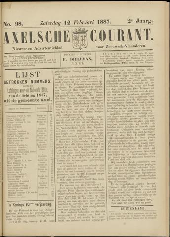 Axelsche Courant 1887-02-12