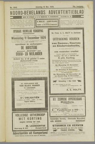 Noord-Bevelands Nieuws- en advertentieblad 1929-11-16