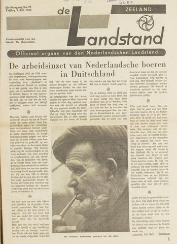 De landstand in Zeeland, geïllustreerd weekblad. 1943-07-09