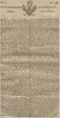 Middelburgsche Courant 1775-02-18