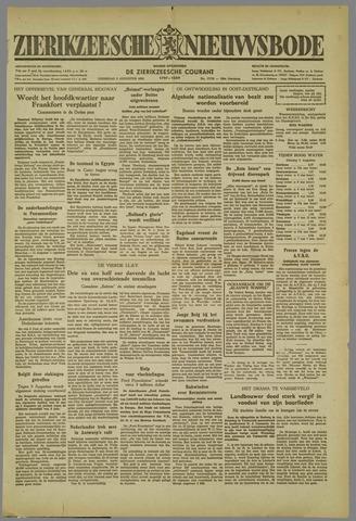 Zierikzeesche Nieuwsbode 1952-08-05