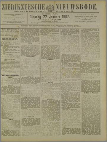 Zierikzeesche Nieuwsbode 1907-01-22