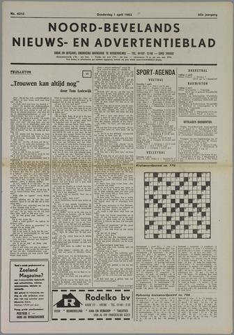 Noord-Bevelands Nieuws- en advertentieblad 1982-04-01