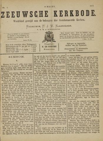 Zeeuwsche kerkbode, weekblad gewijd aan de belangen der gereformeerde kerken/ Zeeuwsch kerkblad 1887-03-19