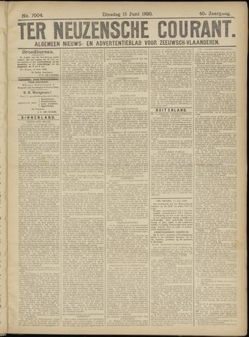 Ter Neuzensche Courant. Algemeen Nieuws- en Advertentieblad voor Zeeuwsch-Vlaanderen / Neuzensche Courant ... (idem) / (Algemeen) nieuws en advertentieblad voor Zeeuwsch-Vlaanderen 1920-06-15