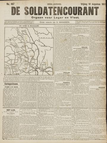De Soldatencourant. Orgaan voor Leger en Vloot 1917-08-10