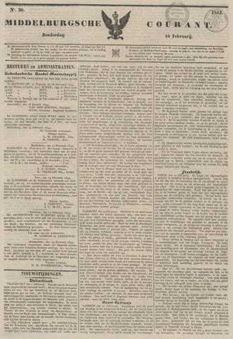 Middelburgsche Courant 1843-02-16