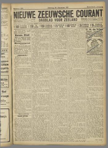 Nieuwe Zeeuwsche Courant 1921-12-24
