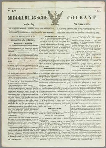 Middelburgsche Courant 1857-11-26