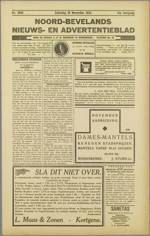 Noord-Bevelands Nieuws- en advertentieblad 1934-11-10