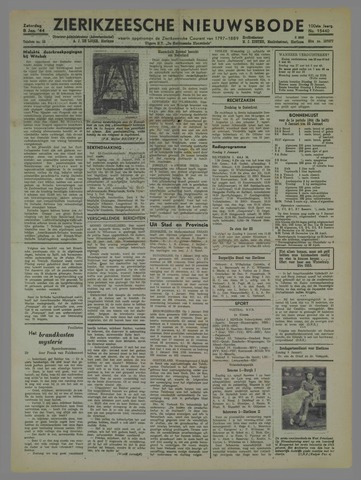 Zierikzeesche Nieuwsbode 1944-01-08