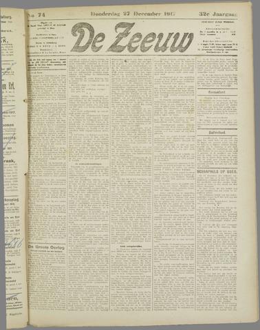 De Zeeuw. Christelijk-historisch nieuwsblad voor Zeeland 1917-12-27