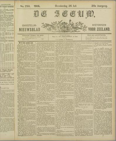 De Zeeuw. Christelijk-historisch nieuwsblad voor Zeeland 1906-07-26