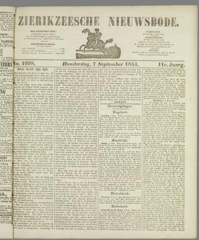 Zierikzeesche Nieuwsbode 1854-09-07