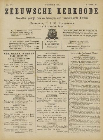 Zeeuwsche kerkbode, weekblad gewijd aan de belangen der gereformeerde kerken/ Zeeuwsch kerkblad 1890-12-06