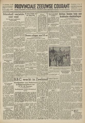 Provinciale Zeeuwse Courant 1948-08-12