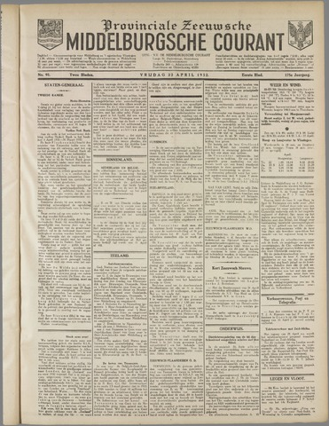 Middelburgsche Courant 1932-04-22