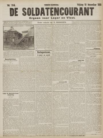 De Soldatencourant. Orgaan voor Leger en Vloot 1915-11-12