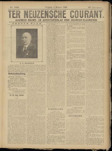 Ter Neuzensche Courant. Algemeen Nieuws- en Advertentieblad voor Zeeuwsch-Vlaanderen / Neuzensche Courant ... (idem) / (Algemeen) nieuws en advertentieblad voor Zeeuwsch-Vlaanderen 1923-03-02