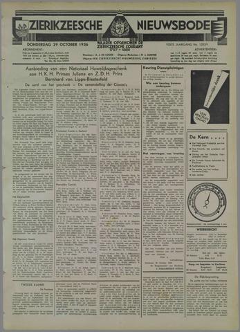 Zierikzeesche Nieuwsbode 1936-10-29
