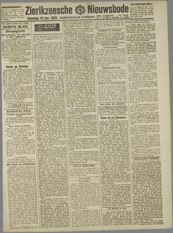 Zierikzeesche Nieuwsbode 1925-01-19