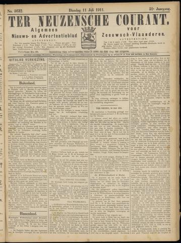 Ter Neuzensche Courant. Algemeen Nieuws- en Advertentieblad voor Zeeuwsch-Vlaanderen / Neuzensche Courant ... (idem) / (Algemeen) nieuws en advertentieblad voor Zeeuwsch-Vlaanderen 1911-07-11