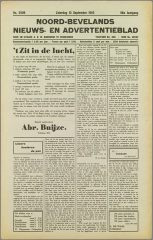 Noord-Bevelands Nieuws- en advertentieblad 1952-09-13