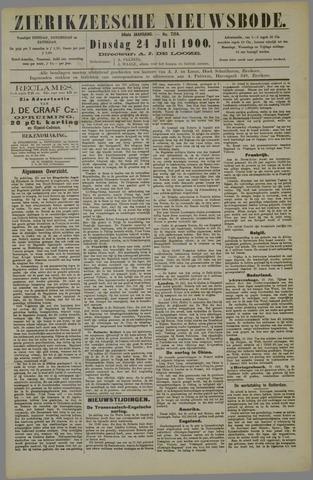 Zierikzeesche Nieuwsbode 1900-07-24
