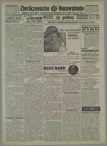 Zierikzeesche Nieuwsbode 1934-04-27