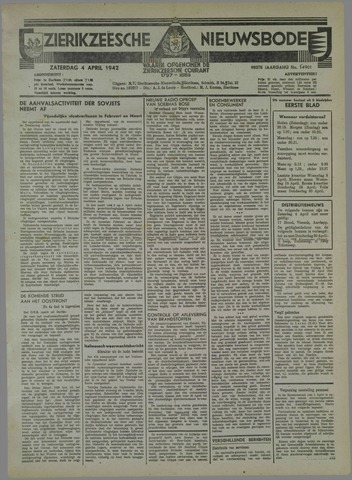 Zierikzeesche Nieuwsbode 1942-04-04