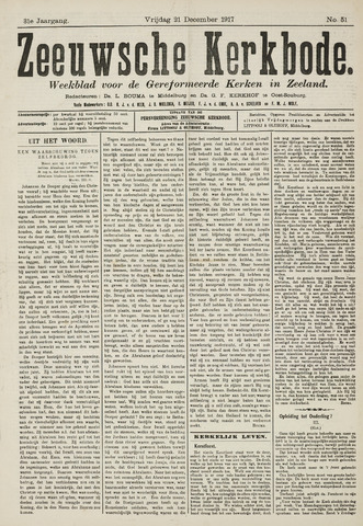 Zeeuwsche kerkbode, weekblad gewijd aan de belangen der gereformeerde kerken/ Zeeuwsch kerkblad 1917-12-21