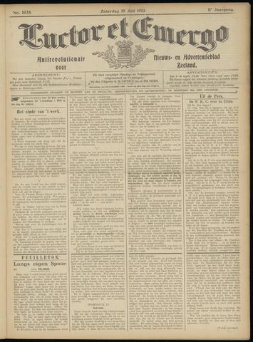 Luctor et Emergo. Antirevolutionair nieuws- en advertentieblad voor Zeeland / Zeeuwsch-Vlaanderen. Orgaan ter verspreiding van de christelijke beginselen in Zeeuwsch-Vlaanderen 1913-07-19