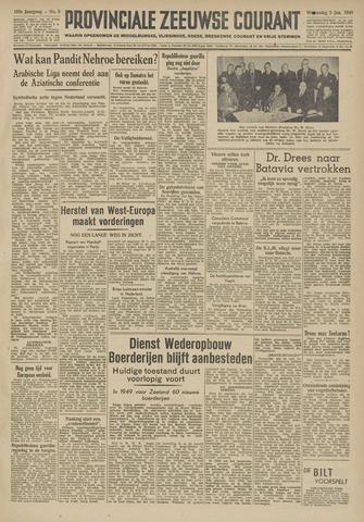Provinciale Zeeuwse Courant 1949-01-05