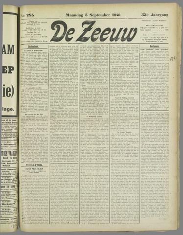 De Zeeuw. Christelijk-historisch nieuwsblad voor Zeeland 1921-09-05
