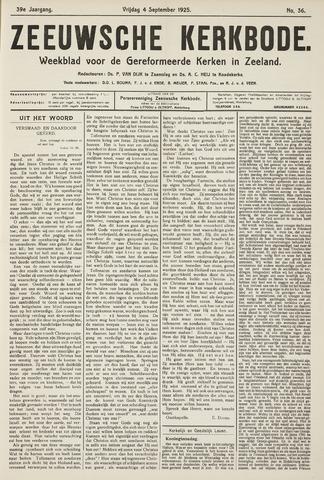 Zeeuwsche kerkbode, weekblad gewijd aan de belangen der gereformeerde kerken/ Zeeuwsch kerkblad 1925-09-04