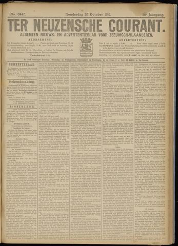 Ter Neuzensche Courant. Algemeen Nieuws- en Advertentieblad voor Zeeuwsch-Vlaanderen / Neuzensche Courant ... (idem) / (Algemeen) nieuws en advertentieblad voor Zeeuwsch-Vlaanderen 1916-10-26
