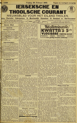 Ierseksche en Thoolsche Courant 1932-02-26