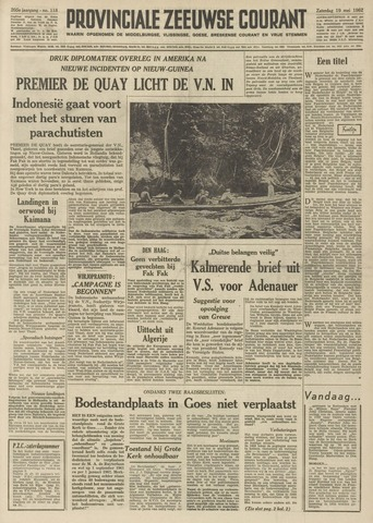Provinciale Zeeuwse Courant 1962-05-19