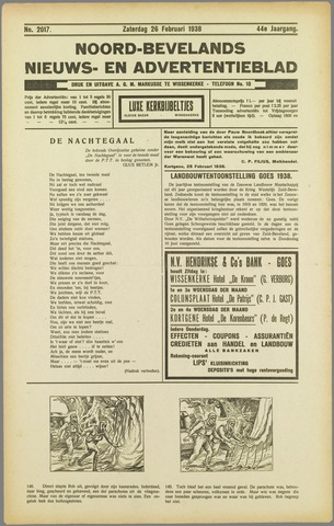 Noord-Bevelands Nieuws- en advertentieblad 1938-02-26