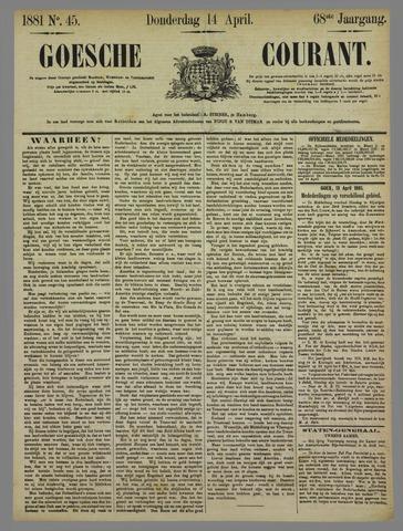Goessche Courant 1881-04-14