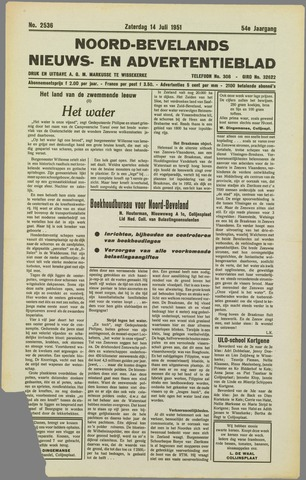 Noord-Bevelands Nieuws- en advertentieblad 1951-07-14