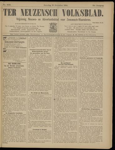 Ter Neuzensch Volksblad. Vrijzinnig nieuws- en advertentieblad voor Zeeuwsch- Vlaanderen / Zeeuwsch Nieuwsblad. Nieuws- en advertentieblad voor Zeeland 1914-12-19