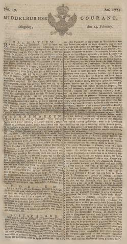 Middelburgsche Courant 1775-02-14