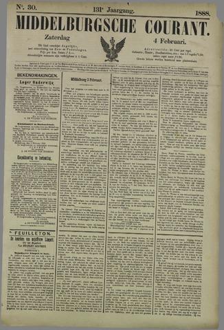 Middelburgsche Courant 1888-02-04