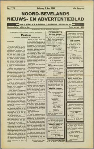 Noord-Bevelands Nieuws- en advertentieblad 1945-06-02
